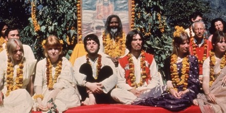 Image result for the beatles in india images