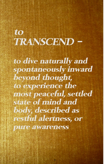 transcendental meditation tm