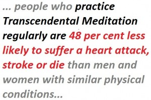 decreased mortality rate due to stroke meditation