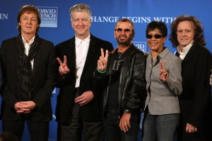 Paul+McCartney+Ringo+Starr+David+Lynch+Foundation+transcendental meditation