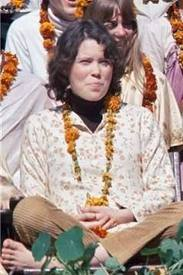 prudence farrow in rishikesh with the beatles learning meditation