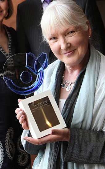 transcendental meditation social responsibility social activism charity work_Alice Leahy with her Crystal Clear MSD Health Literacy Award