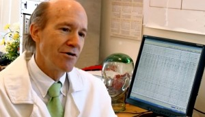 Dr Fred Travis in his lab - research on brain and Transcendental Meditation