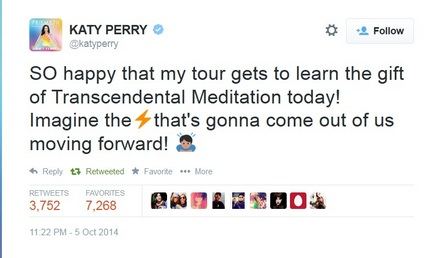 katy perry tour learns meditation