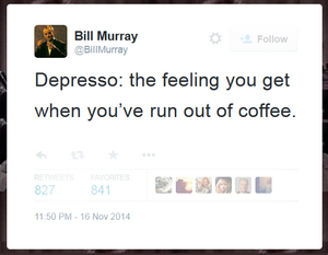 coffee addiction meditation murray tweet