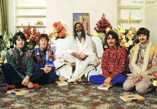 beatles maharishi yogi with beatles teaches transcendental meditation