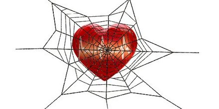 heart in a web of stress