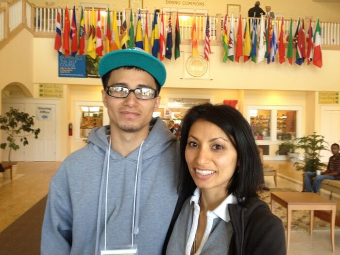 Walking in her sister's footsteps: Mariam's brother Shawn at Maharishi University of Management
