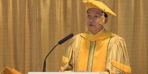 hatoyama japan prime minister mum graduation speech video meditation